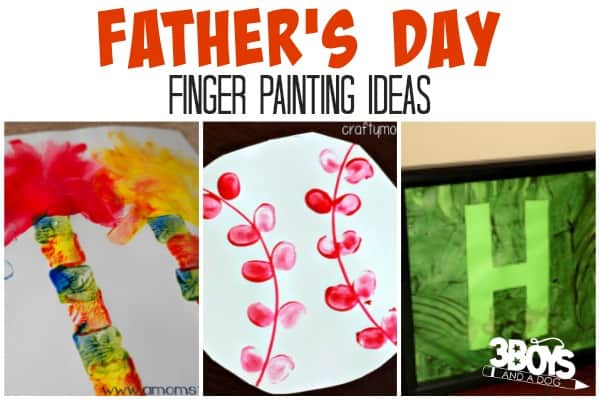 Father's Day Finger Painting Ideas for Kids