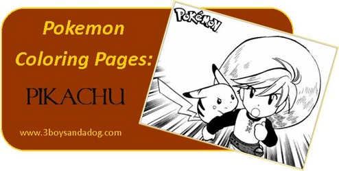 Pikachu Pokemon Coloring Pages for Boys