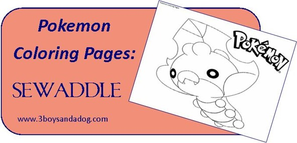 Sewaddle Pokemon Coloring Pages for Boys