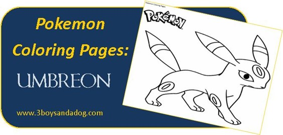 Umbreon Pokemon Coloring Pages for Boys