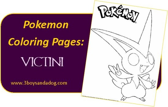 Victini Pokemon Coloring Pages For Boys
