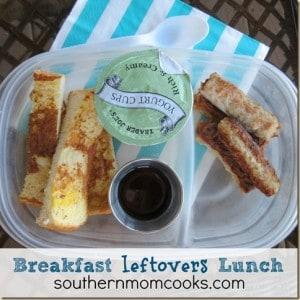 Breakfast leftovers Bento Lunch