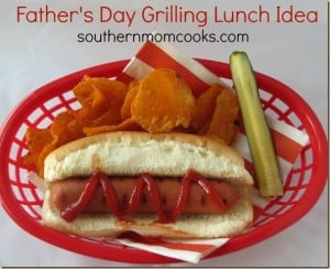 Fathers day grilling lunch idea