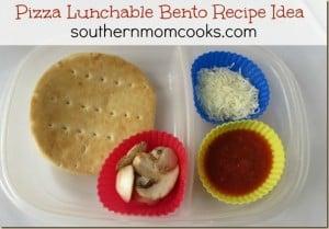 Pizza Lunchable bento recipe idea