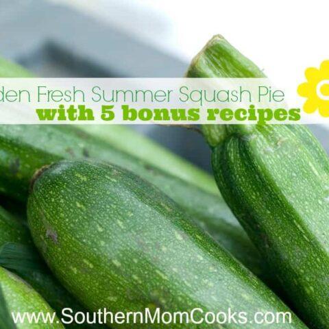 Garden Fresh Summer Squash Pie