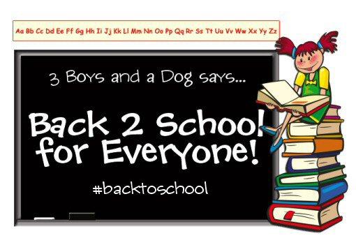 #backtoschool with 3 Boys and a Dog #schoolprep