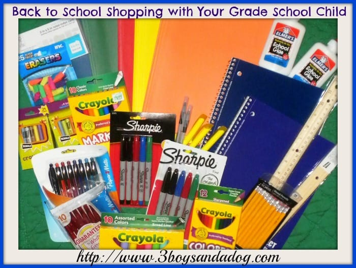 Back to School Shopping with Your Grade School Child