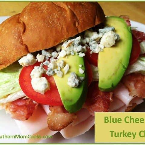 Blue Cheese and Turkey Club Sandwich
