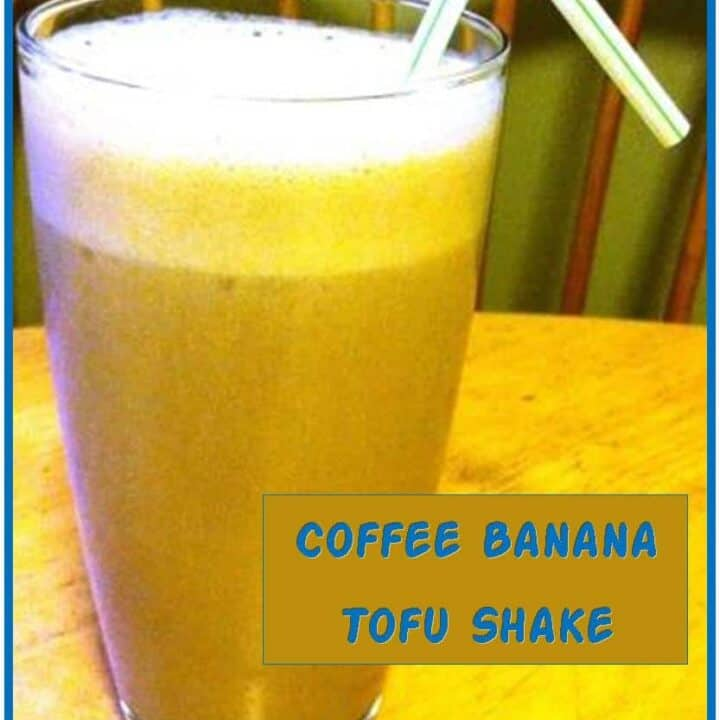 Coffee Banana Tofu Shake