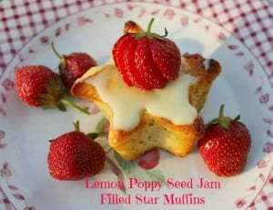 Lemon Poppy Seed Jam Filled Muffins