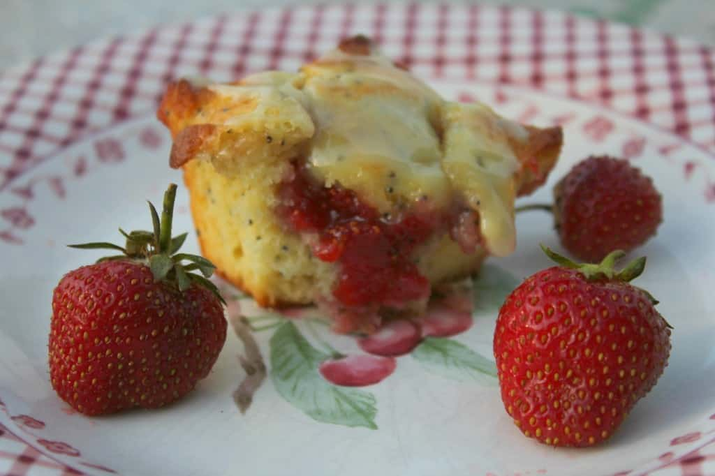 Lemon Poppy Seed Strawberry Jam Filling