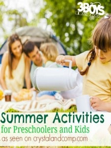 20 Summer Activities for Preschoolers and Kids