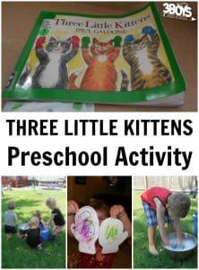 Three Little Kittens Preschool Activity