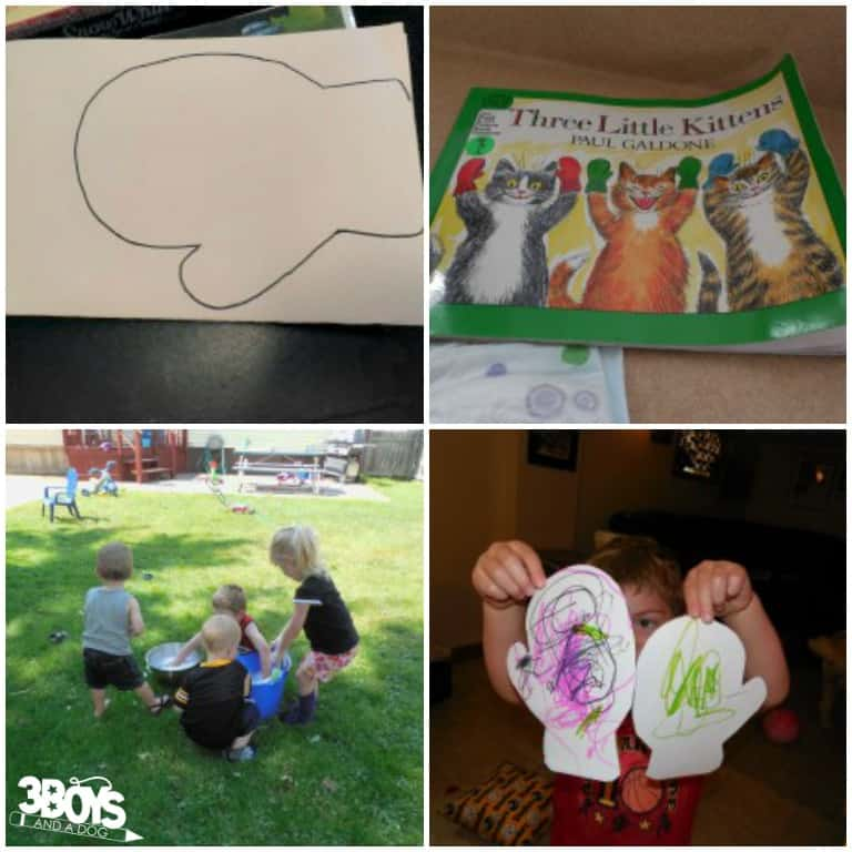 Three Little Kittens Preschool Activity for Kids