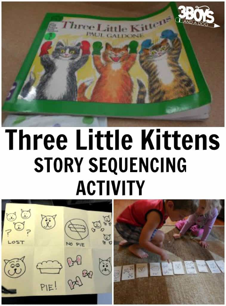 Three Little Kittens Story Sequencing Activity