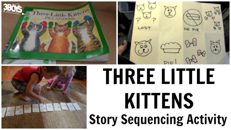 Three Little Kittens Story Sequencing
