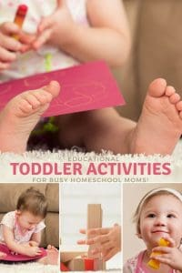 Educational Toddler Activities for Homeschoolers