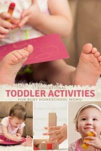 Educational Toddler Activities for Homeschoolers