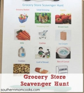Grocery Store Scavenger Hunt