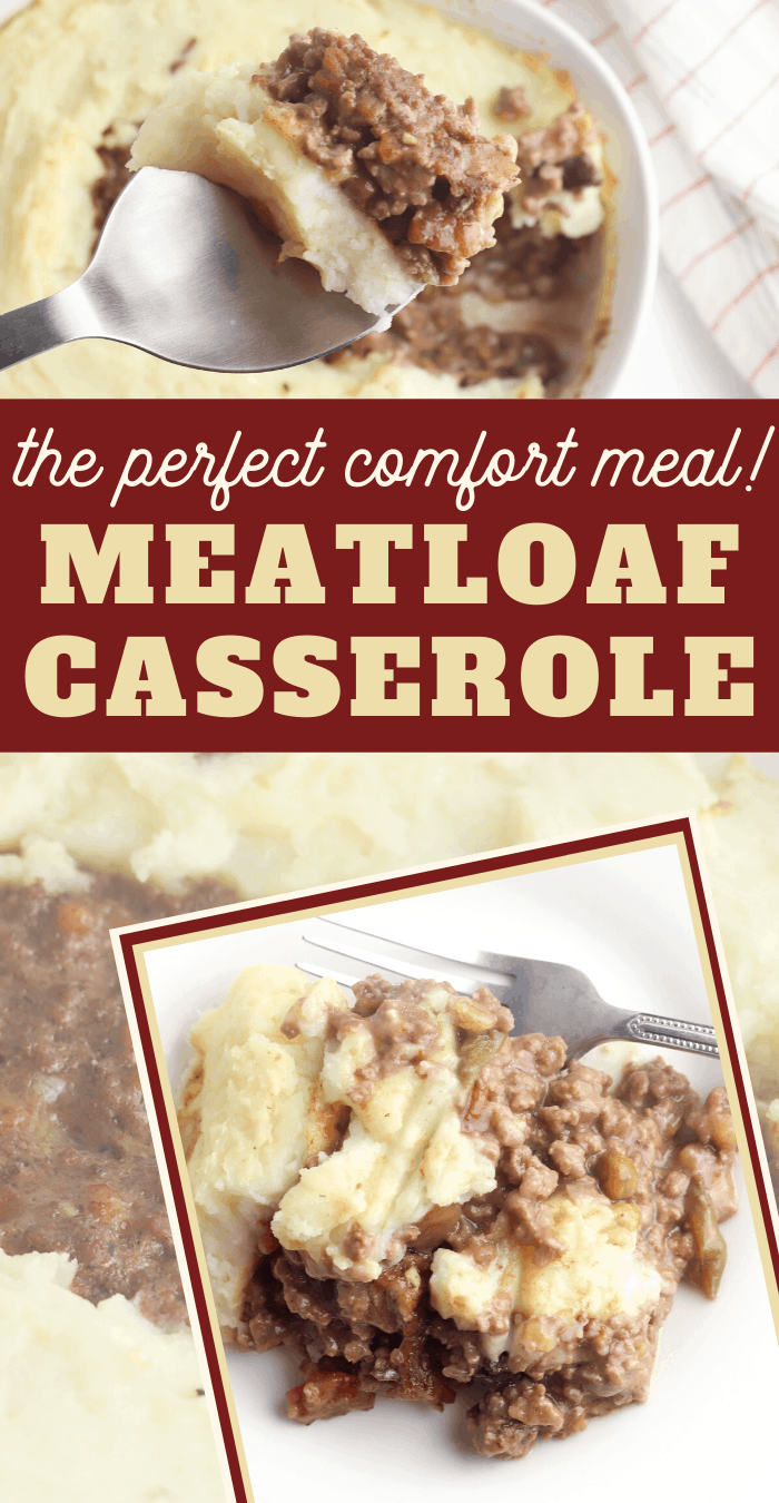 this meatloaf and mashed potatoes is in one dish and as delicious as you'd imagine