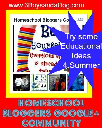 Homeschool Bloggers Google+ Community