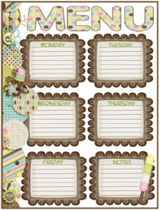 Menu Plan Monday: Ice Cream Printable