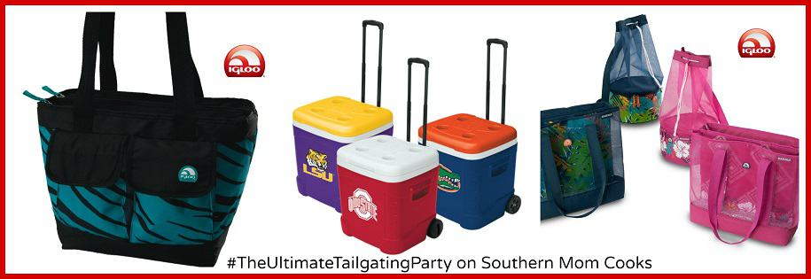 3 Igloo Coolers #giveaway on Southern Mom Cooks. #Win today! #UltimateTailgatingParty