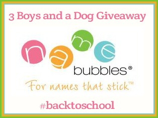 Name Bubbles Giveaway