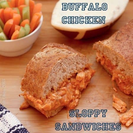 Buffalo Chicken Sloppy Sandwiches