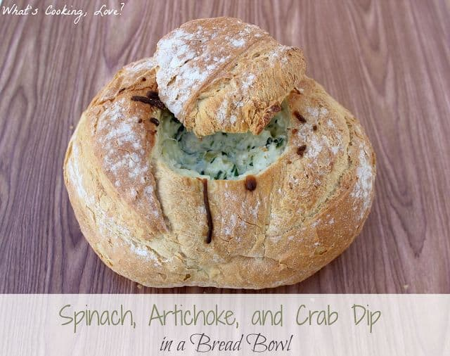 Spinach, Artichoke & Crab Dip