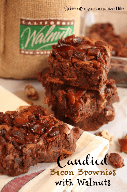 Candied Bacon Brownies