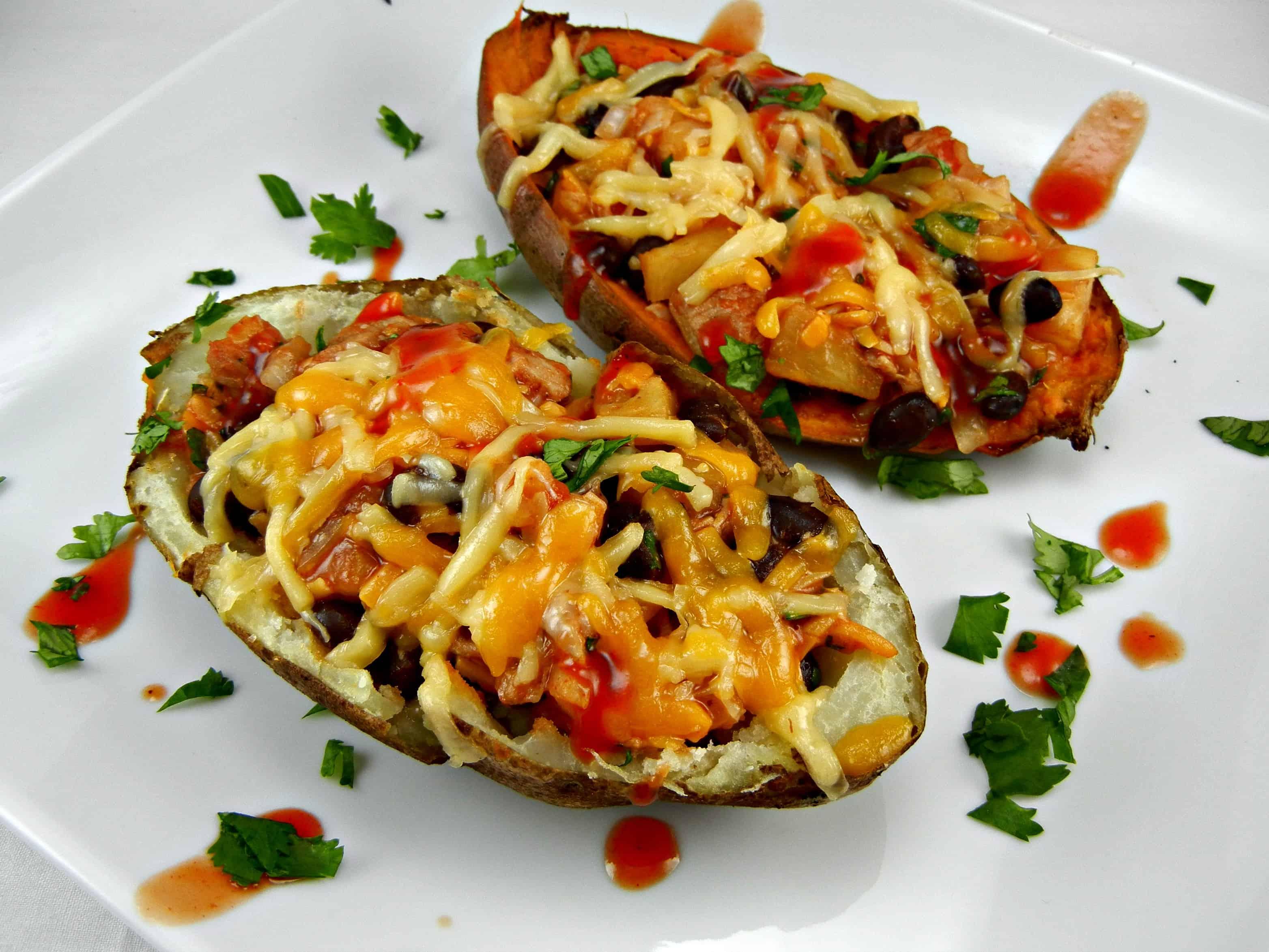 Barbecue Chicken and Coleslaw Potato Skins Recipe
