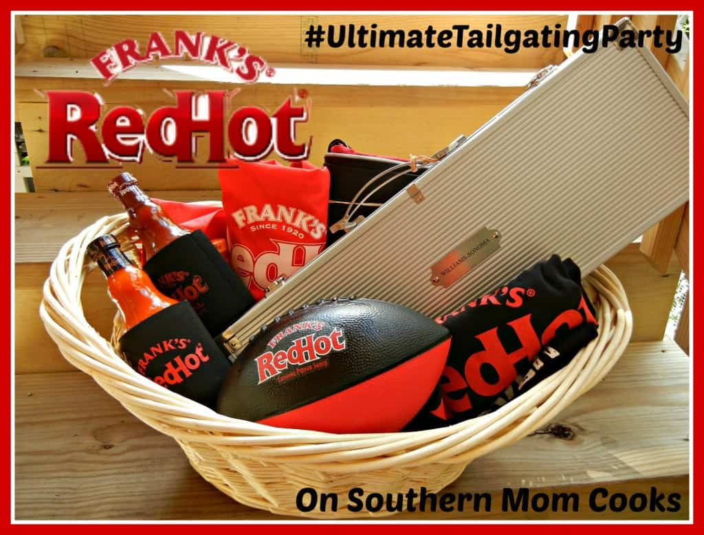 Frank's RedHot Giveaway on www.southernmomcooks.com #UltimateTailgatingParty #tailgatingrecipes