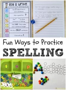 5+ Fun Ways to Practice Spelling