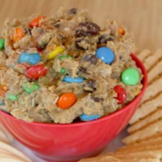 Monster Cookie Dough Appetizer Dip