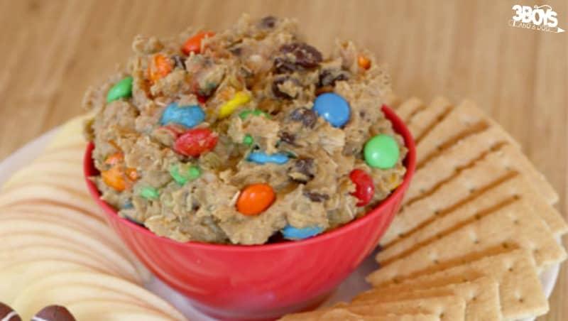 Monster Cookie Dough Appetizer Dip