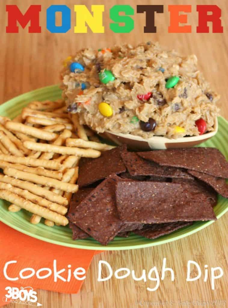 Monster Cookie Dough Dessert Dip