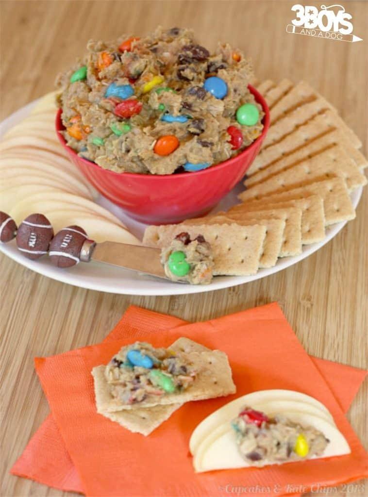 Monster Cookie Dough Dip Appetizer