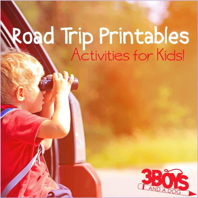 Printable Road Trip Activities for Kids