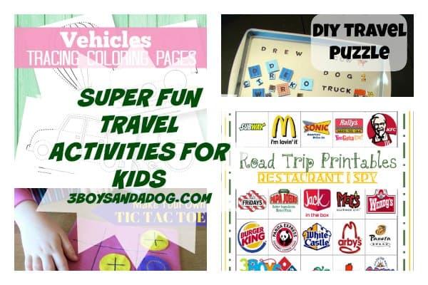 travel activities - Free Kids Printable Activities