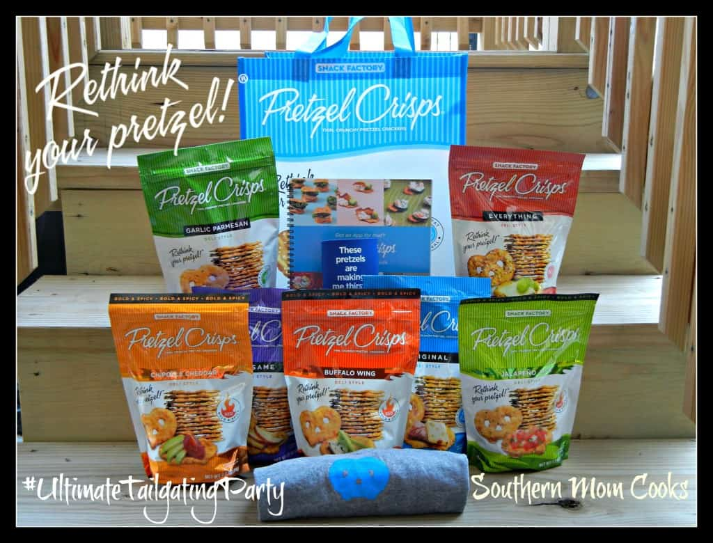 #UltimateTailgatingParty with Pretzel Crisps. #WIN a prize tote filled with goodies at Southern Mom Cooks