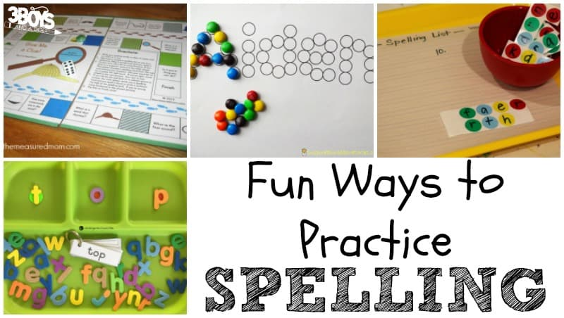 Ways to Practice Spelling