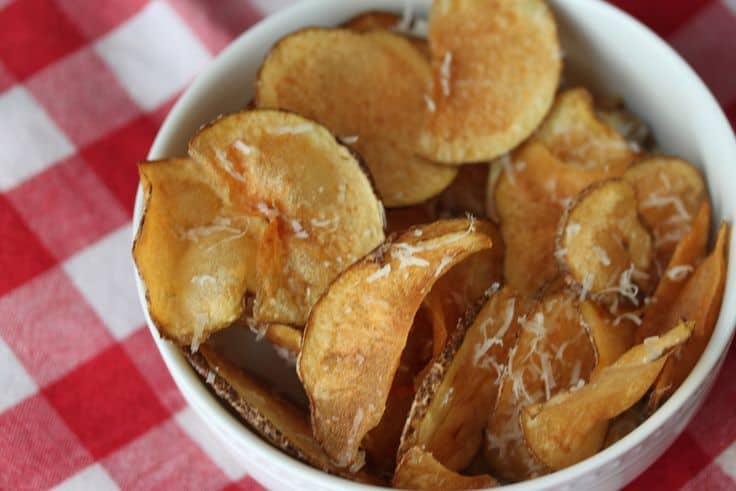 Homemade Parmesan Potato Chips