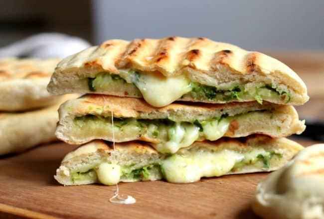 Mozzarella & Pesto Grilled Nan Sandwich