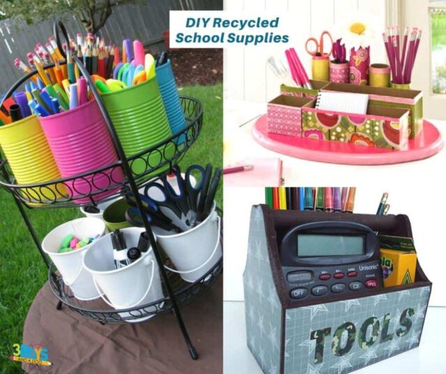 8 DIY Recycled School Supplies