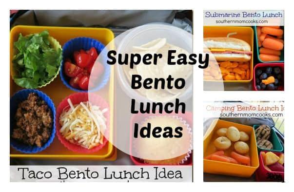 super easy bento lunch ideas