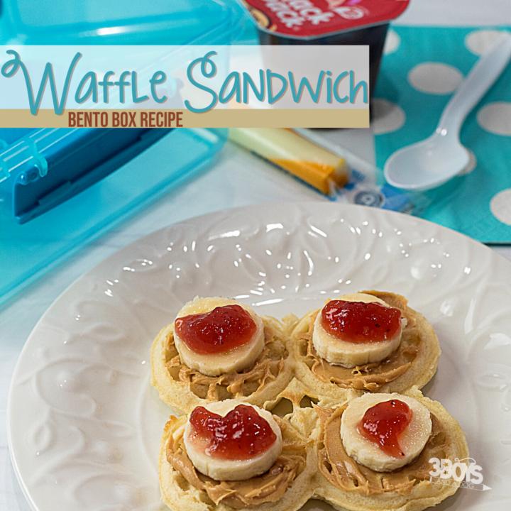 Waffle sandwich bento lunch