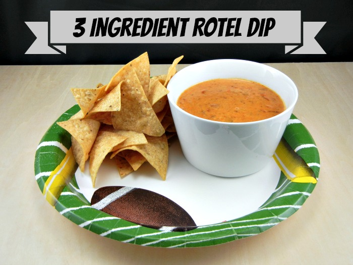 3 Ingredient Rotel Dip from 3 Boys and a Dog. #UltimateTailgatingParty