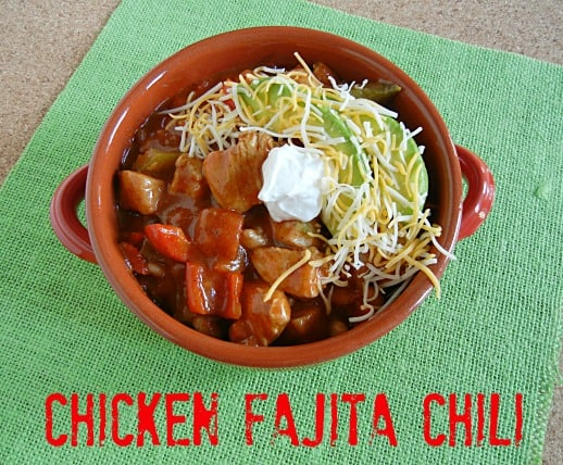 Chicken Fajita Chili on 3 Boys and a Dog