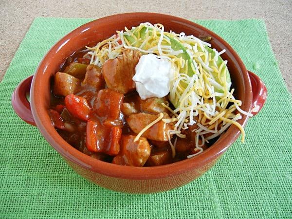 Chicken Fajita Chili on 3 Boys and a Dog. #UltimateTailgatingParty #chili #recipe
